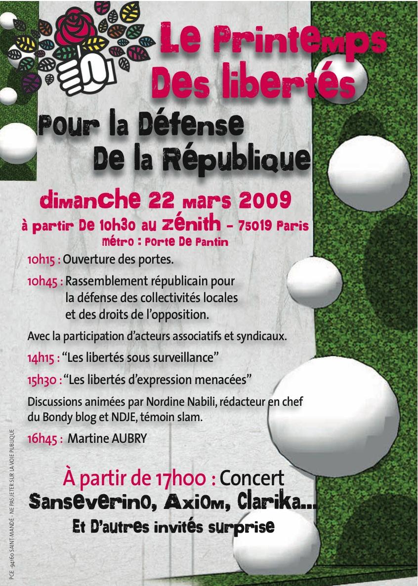 Tract Printemps des Libertés 22 mars